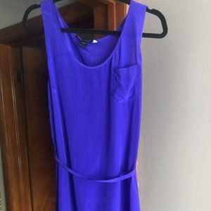 French Connection Royal Blue 100% Silk Dress